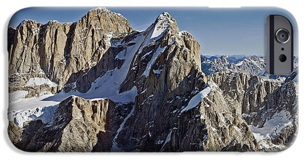 Mooses Tooth iPhone Cases - Mooses Tooth and Broken Tooth iPhone Case by Mark Stadsklev