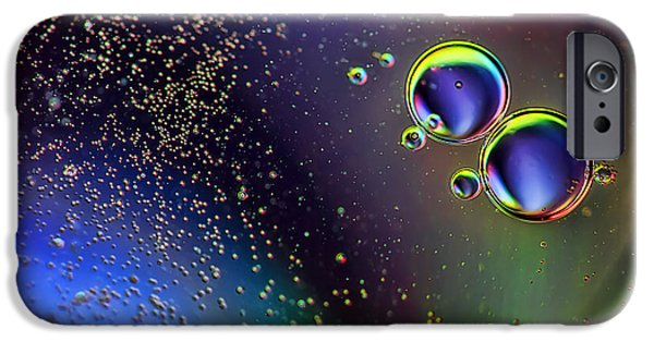 Oil Slick iPhone Cases - More Bubbles iPhone Case by EXparte SE