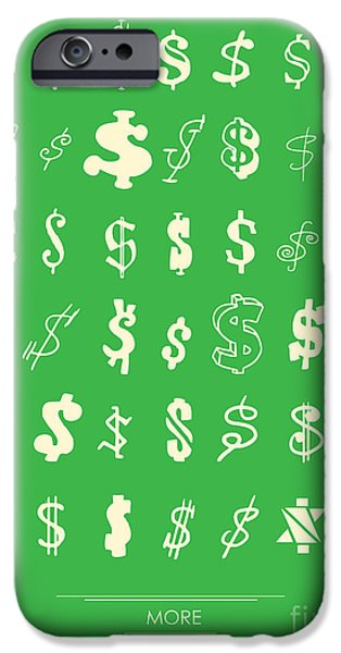 Money iPhone Cases - More more more iPhone Case by Budi Kwan
