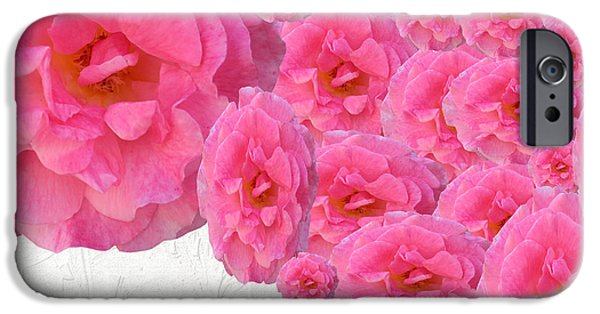 Multimedia iPhone Cases - More Pink Roses iPhone Case by Tina M Wenger
