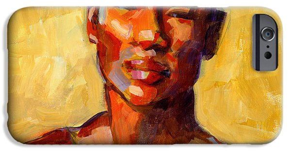 Figures Paintings iPhone Cases - More Than You Know iPhone Case by Douglas Simonson