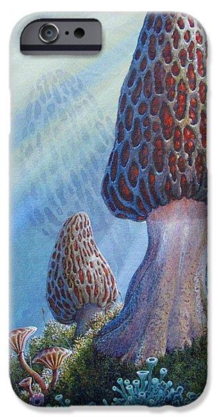 morel mushrooms iPhone Case by Mike Stinnett