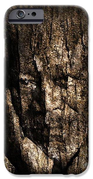 Morgan Freeman Roots digital painting iPhone Case by Georgeta Blanaru