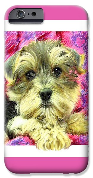 Cute Puppy iPhone Cases - Morkie Puppy iPhone Case by Jane Schnetlage