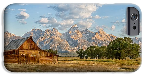 Bison iPhone Cases - Mormon Row Farm iPhone Case by Andres Leon