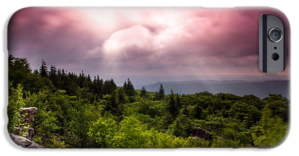Sod iPhone Cases - Morning at Dolly Sods iPhone Case by Shane Holsclaw