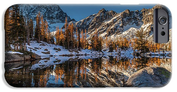 Fall iPhone Cases - Morning at Horseshoe Lake iPhone Case by Mike Reid