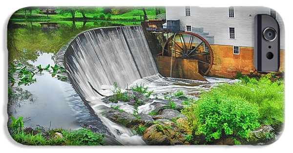 Historic Site iPhone Cases - Morning at Murrays Mill iPhone Case by Priscilla Burgers