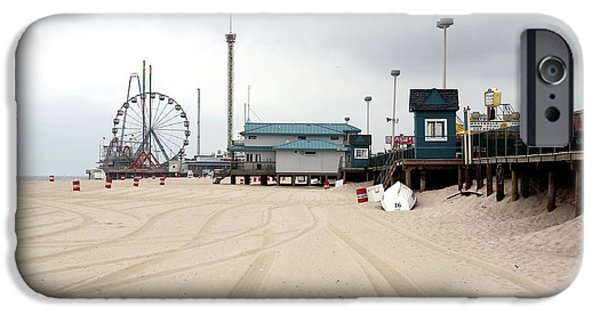 Seaside Heights iPhone Cases - Morning at Seaside Heights iPhone Case by John Rizzuto