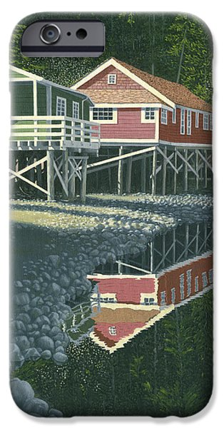 Bc Coast iPhone Cases - Morning at Telegraph cove iPhone Case by Gary Giacomelli