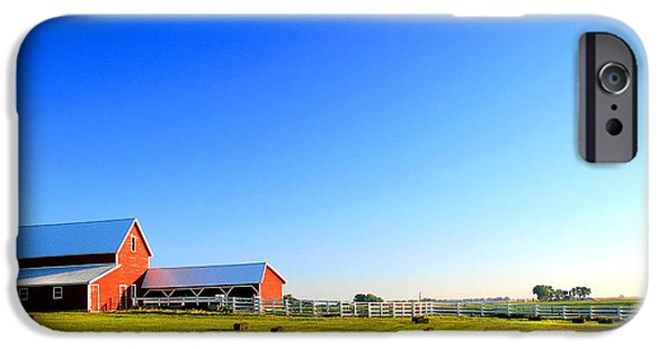 A Sunny Morning iPhone Cases - Morning at the Farm iPhone Case by Steven Reed