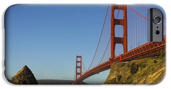 Sausalito iPhone Cases - Morning at the Golden Gate iPhone Case by Bryant Coffey