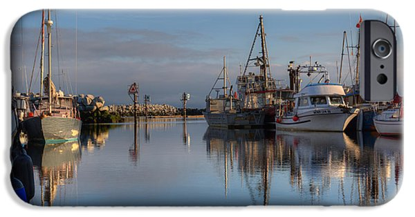 Pleasure iPhone Cases - Morning At The Marina iPhone Case by Randy Hall