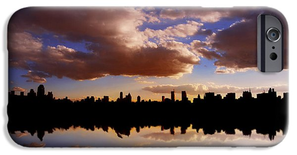 Hudson River iPhone Cases - Morning at the Reservoir New York City USA iPhone Case by Sabine Jacobs
