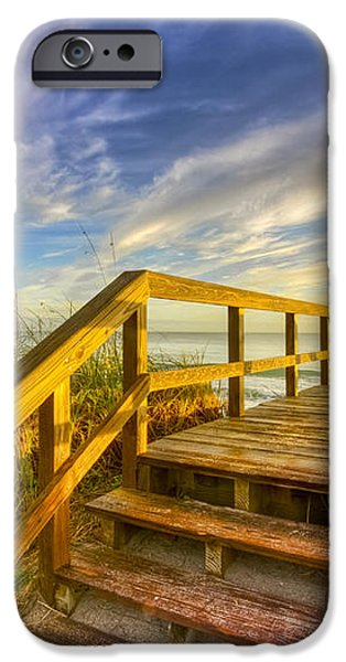 Morning Beach Walk iPhone Case by Debra and Dave Vanderlaan