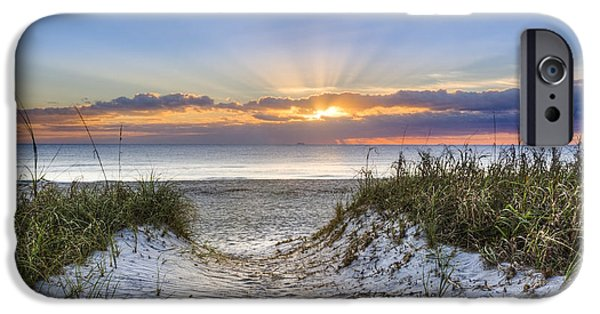 Sunset At The Lake iPhone Cases - Morning Blessing iPhone Case by Debra and Dave Vanderlaan