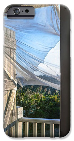 Morning Breeze at the Beach House iPhone Case by Diane Diederich
