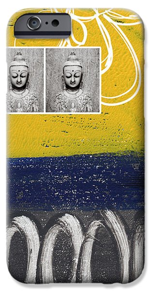 Buddhist iPhone Cases - Morning Buddha iPhone Case by Linda Woods