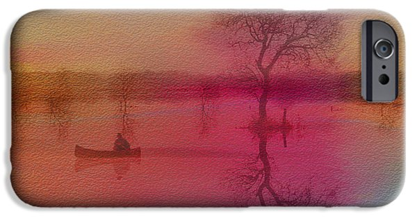 Canoe iPhone Cases - Morning Canoe iPhone Case by Jim  Hatch