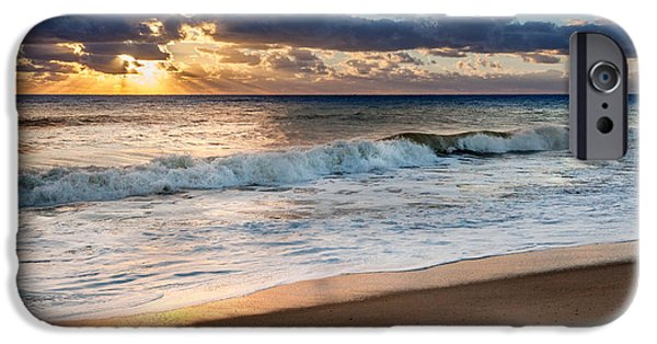 Cape Cod Landscapes iPhone Cases - Morning Clouds iPhone Case by Bill  Wakeley