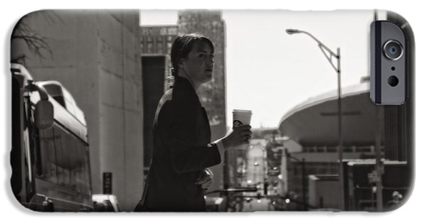 Crosswalk iPhone Cases - Morning Coffee At Starbucks In Nashville iPhone Case by Dan Sproul