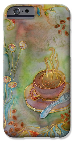 Morning Tapestries - Textiles iPhone Cases - Morning Coffee iPhone Case by Ruta Naujokiene