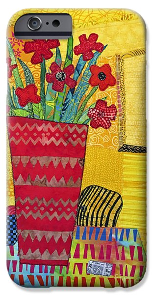 Colorful Abstract Tapestries - Textiles iPhone Cases - Morning Dreams iPhone Case by Susan Rienzo