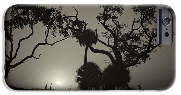 Solar Eclipse Digital iPhone Cases - Morning Eclipse in Sepia iPhone Case by Phill  Doherty