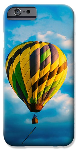 Morning Flight Hot Air Balloons iPhone Case by Bob Orsillo