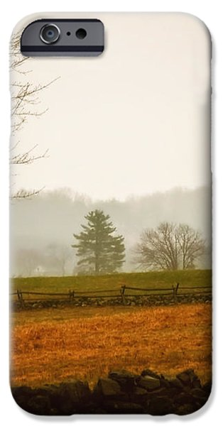 Morning Fog at Gettysburg iPhone Case by Mountain Dreams