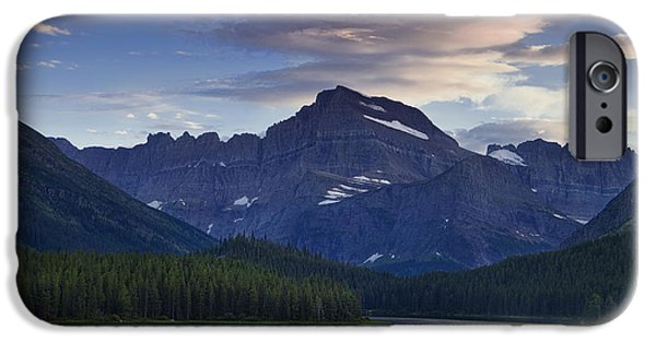 Cloudscape Photographs iPhone Cases - Morning Glow At Glacier Park iPhone Case by Andrew Soundarajan