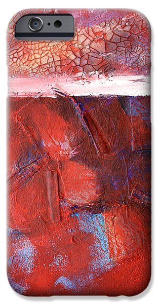 Fabric Mixed Media iPhone Cases - Morning Grit iPhone Case by Nancy Merkle