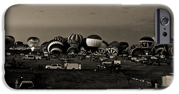 Hot Air Balloon iPhone Cases - Morning Has Broken in sepia iPhone Case by Don Durante Jr
