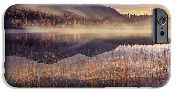 Morning iPhone Cases - Morning in Adirondacks iPhone Case by Magda  Bognar