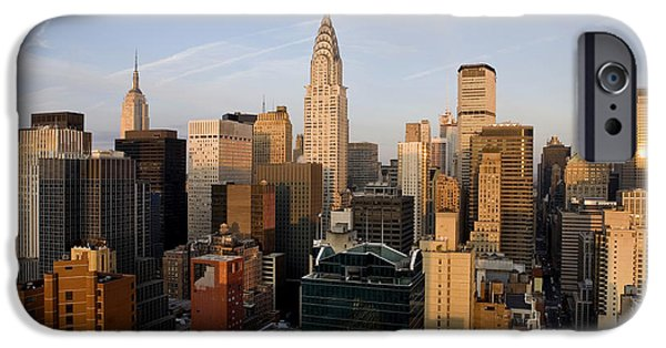 Empire State iPhone Cases - Morning in Manhattan iPhone Case by Diane Diederich