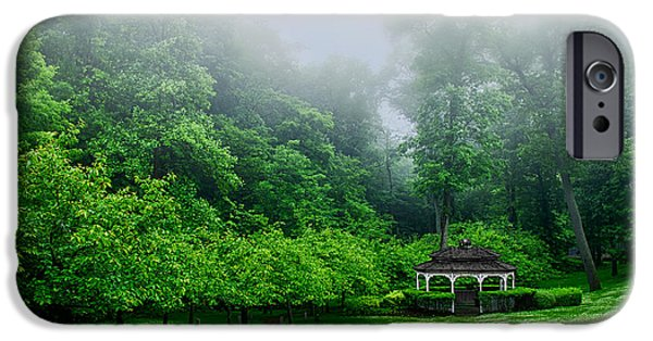 Beauty Mark Photographs iPhone Cases - Morning In The Park iPhone Case by Mark Miller