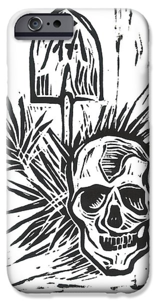 Lino Mixed Media iPhone Cases - Morning iPhone Case by Kevin Houchin