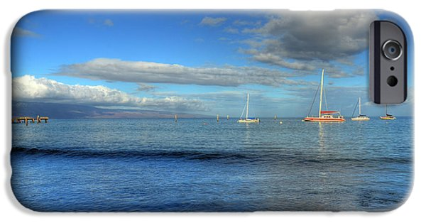 Sailboat Ocean iPhone Cases - Morning Lahaina Harbor iPhone Case by Kelly Wade
