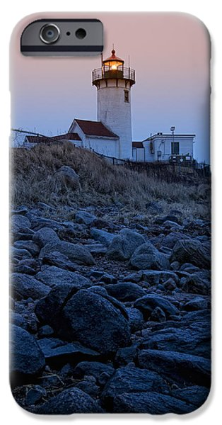 New England Lighthouse iPhone Cases - Morning Light - Eastern Point Lighthouse iPhone Case by Joann Vitali