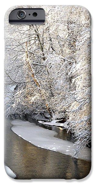 Morning Light Fresh Snowfall Gauley River iPhone Case by Thomas R Fletcher