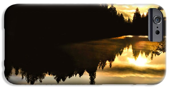 National Park iPhone Cases - Morning Light iPhone Case by Gregory Ballos