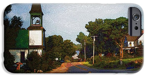 White House iPhone Cases - Morning Light Mount Vernon Maine iPhone Case by Joy Nichols