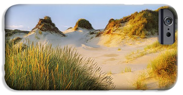 Sand Dunes iPhone Cases - Morning Light On Forvie Dunes iPhone Case by Panoramic Images