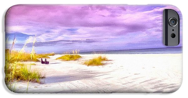 Beach Landscape iPhone Cases - Morning Light on St. Pete Beach  iPhone Case by L Wright