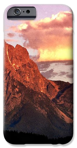 Morning Light on the Tetons iPhone Case by Marty Koch