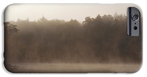 Mist iPhone Cases - Morning Mist Adirondack State Park Old iPhone Case by Panoramic Images
