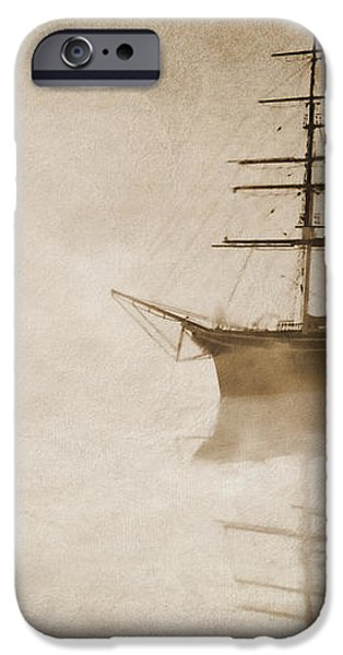Morning mist in sepia iPhone Case by John Edwards