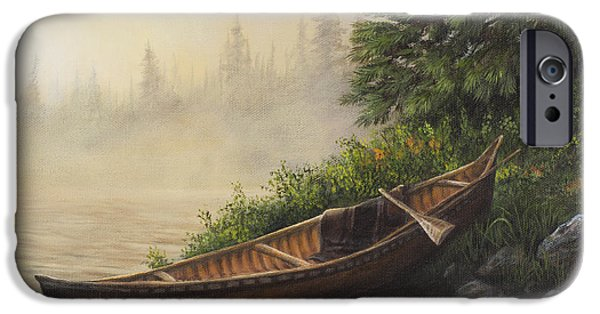 Canoe iPhone Cases - Morning Mist iPhone Case by Kim Lockman