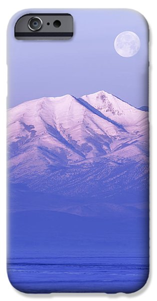 Morning iPhone Cases - Morning Moon iPhone Case by Chad Dutson
