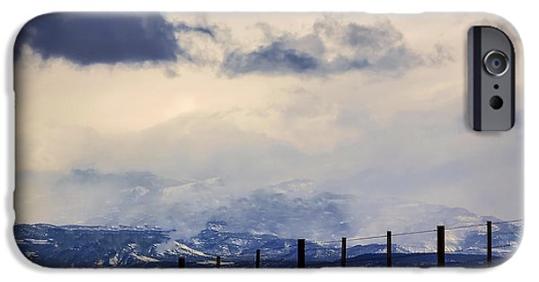 Wintertime iPhone Cases - Morning Mountain Snow iPhone Case by Janice Rae Pariza